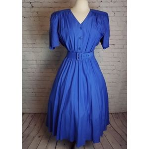 Carol Anderson Vintage 80s Full skirt Dress